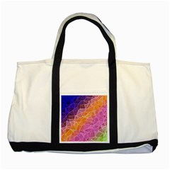 Crystalized Rainbow Two Tone Tote Bag