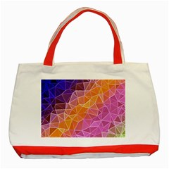 Crystalized Rainbow Classic Tote Bag (red)