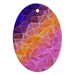 Crystalized Rainbow Oval Ornament (two Sides)