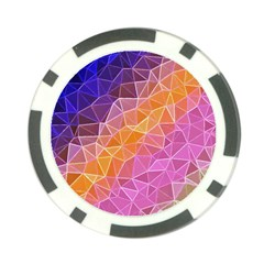 Crystalized Rainbow Poker Chip Card Guard (10 Pack)