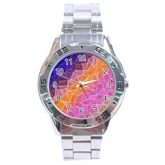 Crystalized Rainbow Stainless Steel Analogue Watch