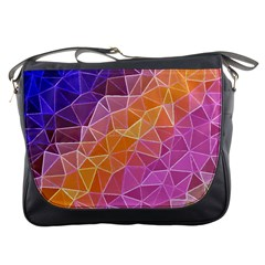 Crystalized Rainbow Messenger Bags