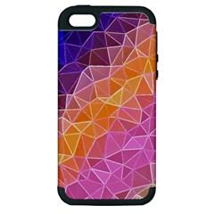 Crystalized Rainbow Apple Iphone 5 Hardshell Case (pc+silicone)
