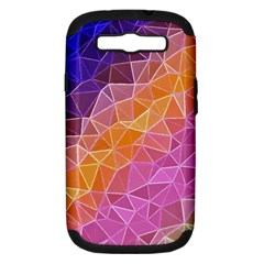 Crystalized Rainbow Samsung Galaxy S Iii Hardshell Case (pc+silicone)