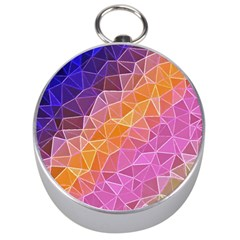 Crystalized Rainbow Silver Compasses