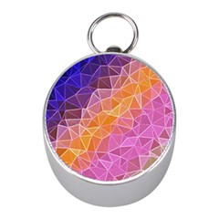 Crystalized Rainbow Mini Silver Compasses