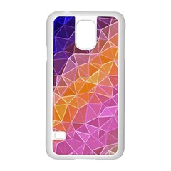 Crystalized Rainbow Samsung Galaxy S5 Case (white)