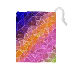 Crystalized Rainbow Drawstring Pouches (large)