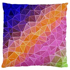 Crystalized Rainbow Standard Flano Cushion Case (two Sides)