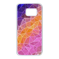 Crystalized Rainbow Samsung Galaxy S7 White Seamless Case