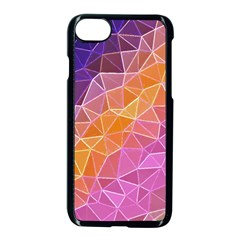 Crystalized Rainbow Apple Iphone 8 Seamless Case (black)