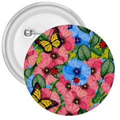 Floral Scene 3  Buttons