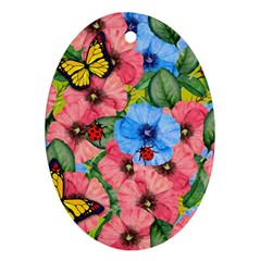 Floral Scene Ornament (oval)