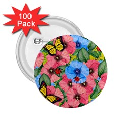 Floral Scene 2 25  Buttons (100 Pack)