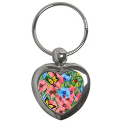Floral Scene Key Chains (heart)