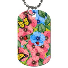 Floral Scene Dog Tag (two Sides)