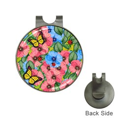 Floral Scene Hat Clips With Golf Markers