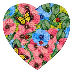 Floral Scene Jigsaw Puzzle (heart)