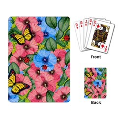 Floral Scene Playing Card
