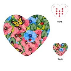 Floral Scene Playing Cards (heart)