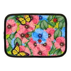 Floral Scene Netbook Case (medium)