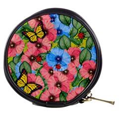 Floral Scene Mini Makeup Bags