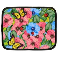 Floral Scene Netbook Case (xxl)