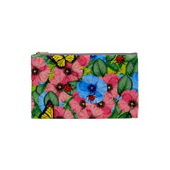 Floral Scene Cosmetic Bag (small)