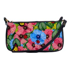 Floral Scene Shoulder Clutch Bags