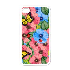Floral Scene Apple Iphone 4 Case (white)