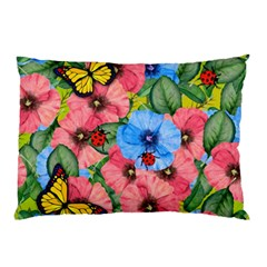 Floral Scene Pillow Case (two Sides)