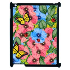 Floral Scene Apple Ipad 2 Case (black)