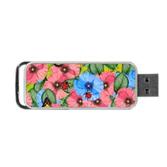 Floral Scene Portable Usb Flash (two Sides)