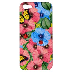 Floral Scene Apple Iphone 5 Hardshell Case