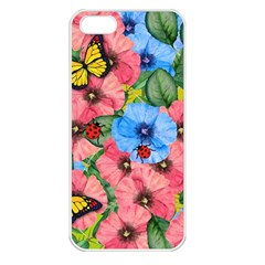 Floral Scene Apple Iphone 5 Seamless Case (white)