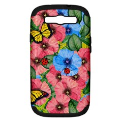 Floral Scene Samsung Galaxy S Iii Hardshell Case (pc+silicone)