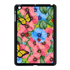 Floral Scene Apple Ipad Mini Case (black)
