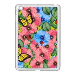 Floral Scene Apple Ipad Mini Case (white)