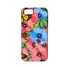 Floral Scene Apple Iphone 5 Classic Hardshell Case (pc+silicone)
