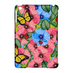 Floral Scene Apple Ipad Mini Hardshell Case (compatible With Smart Cover)