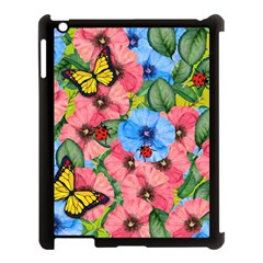 Floral Scene Apple Ipad 3/4 Case (black)