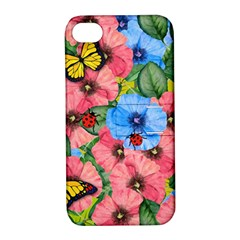 Floral Scene Apple Iphone 4/4s Hardshell Case With Stand