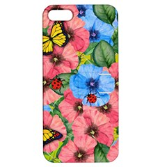 Floral Scene Apple Iphone 5 Hardshell Case With Stand