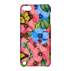 Floral Scene Apple Ipod Touch 5 Hardshell Case With Stand