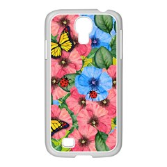 Floral Scene Samsung Galaxy S4 I9500/ I9505 Case (white)