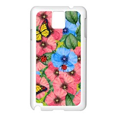Floral Scene Samsung Galaxy Note 3 N9005 Case (white)