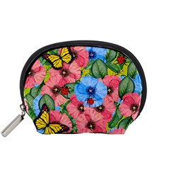 Floral Scene Accessory Pouches (small)
