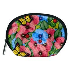 Floral Scene Accessory Pouches (medium)