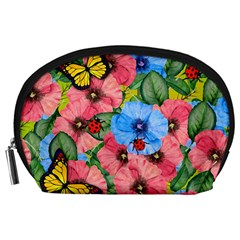 Floral Scene Accessory Pouches (large)