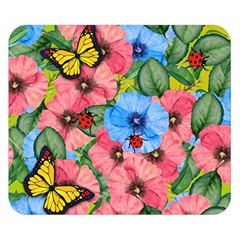 Floral Scene Double Sided Flano Blanket (small)